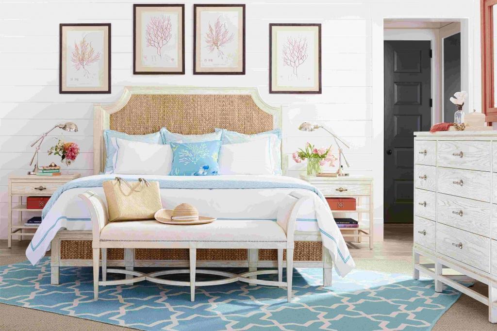 Romantiskt sovrum vid havet