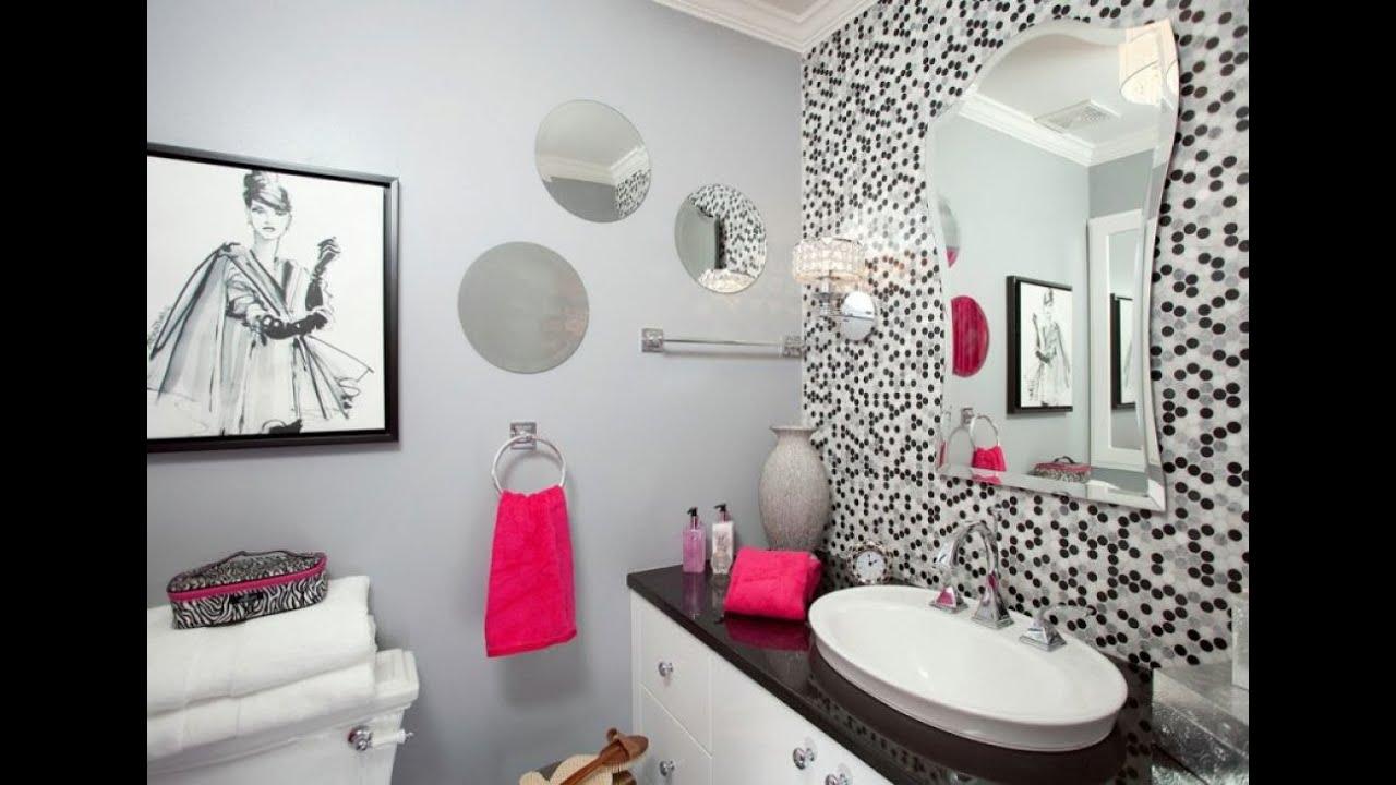 Fashionabla tonåring badrum