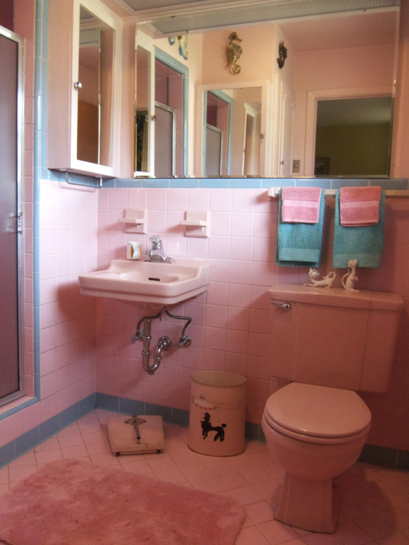 Söt retro badrum