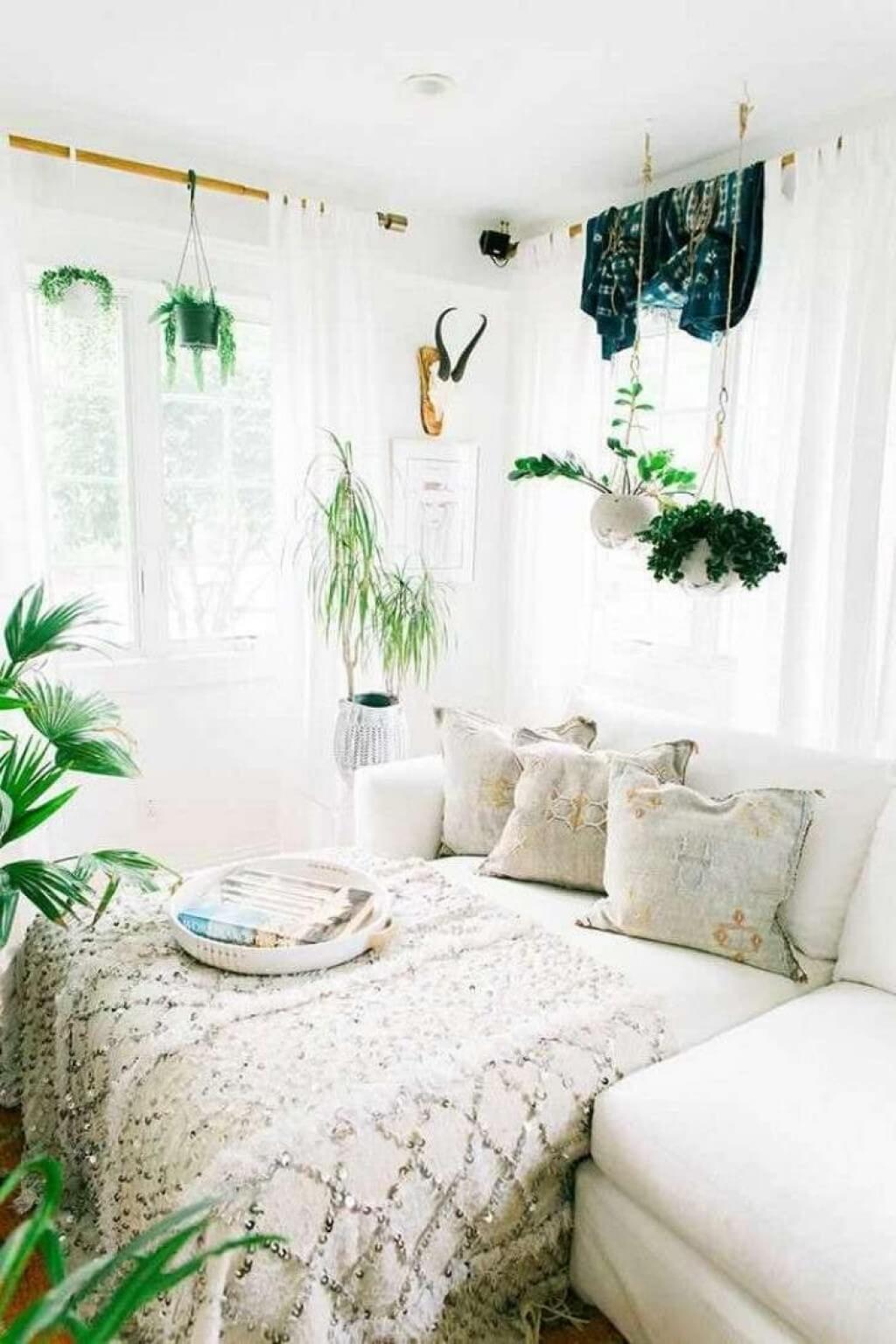 Färskt minimalistiskt sovrum