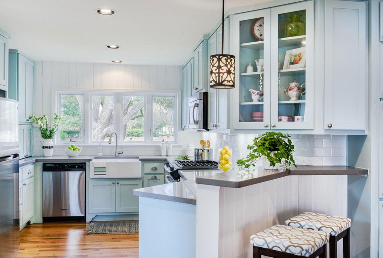 Mildt blått kök