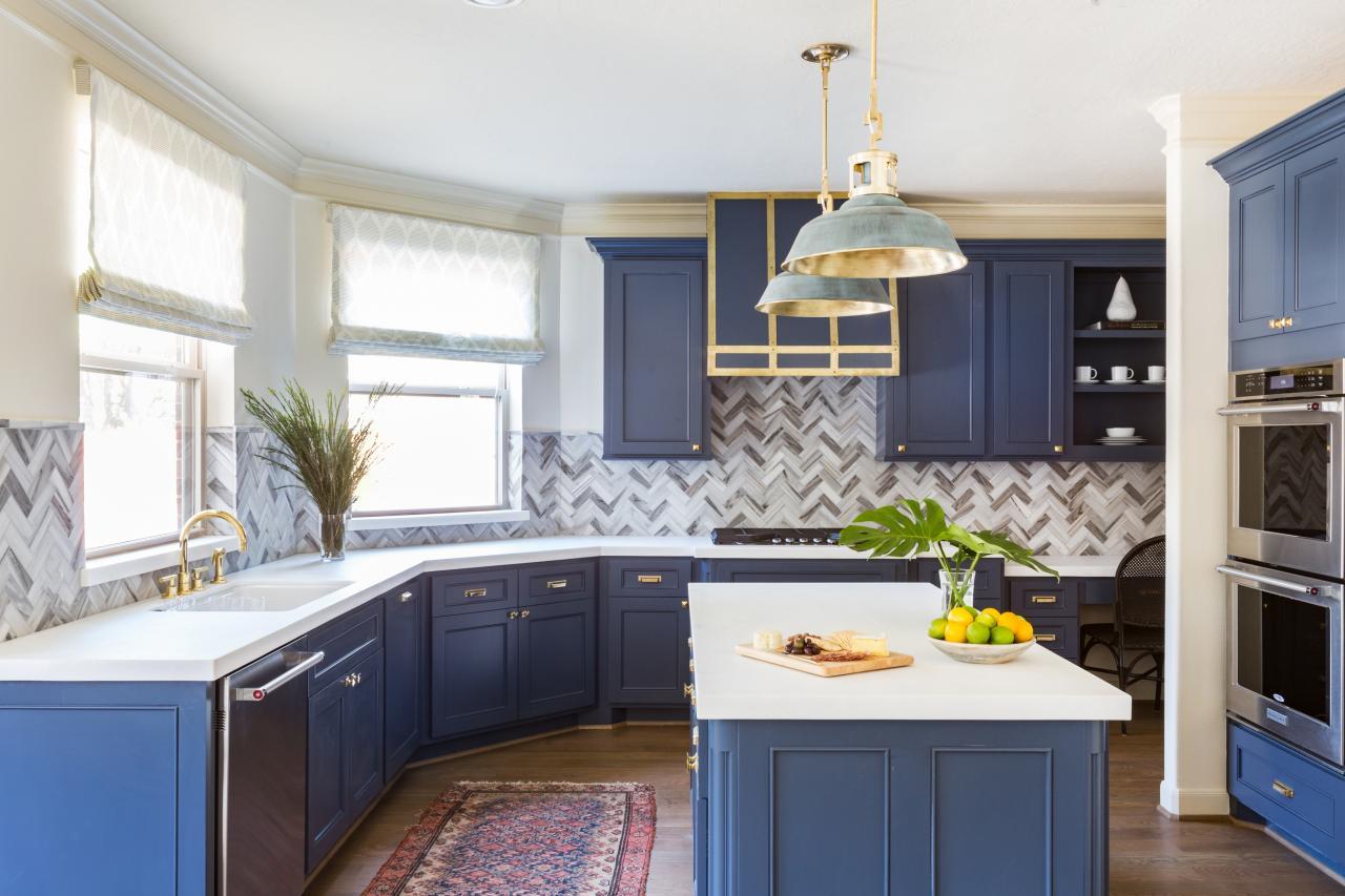 Geometrisk modern köksridå