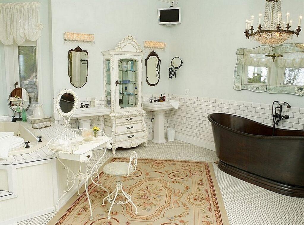 Underbart sjaskigt chic badrum