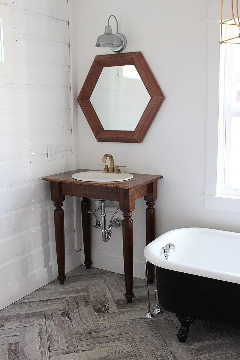 Enkel DIY fåfänga badrum