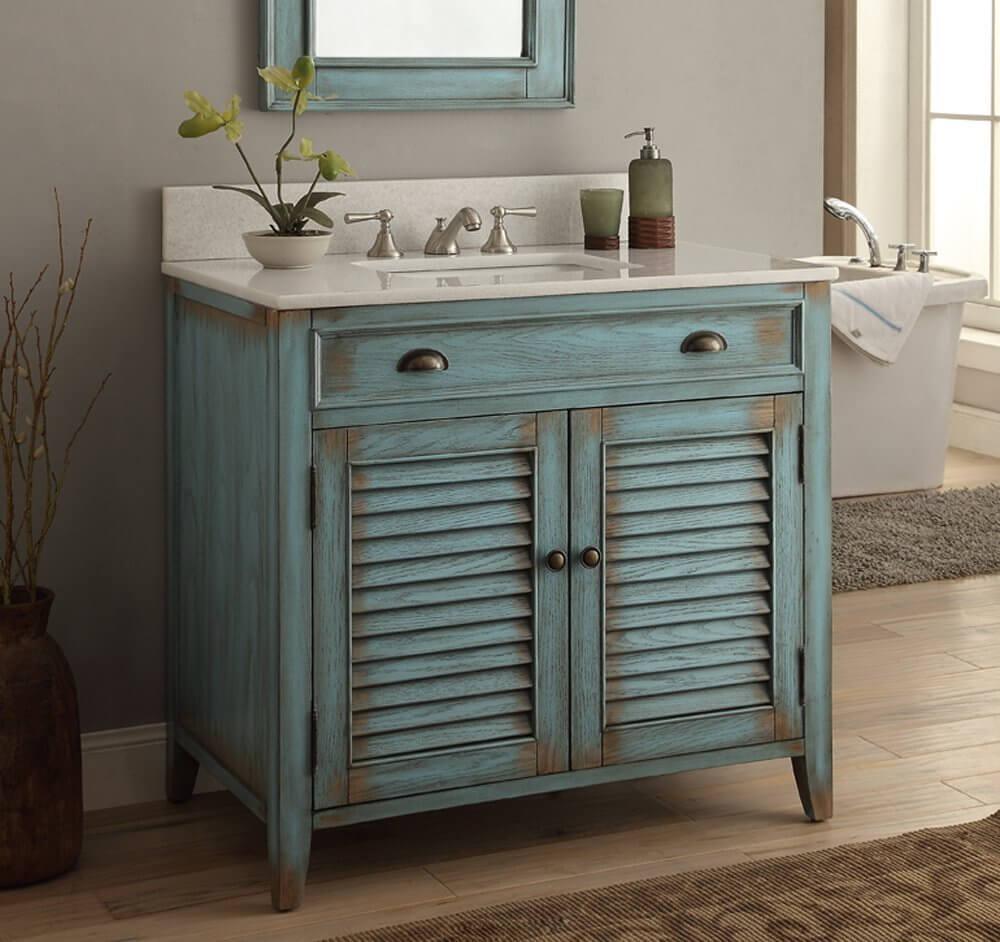 Klassisk DIY fåfänga badrum