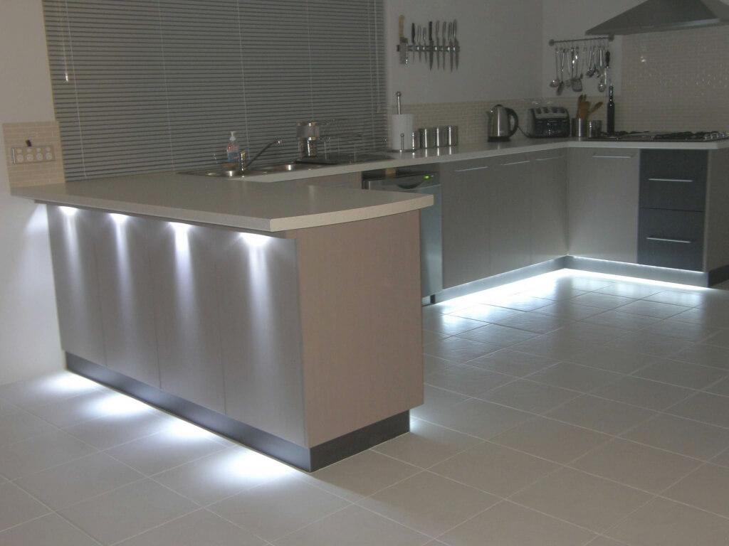 Fantastisk LED-belysning i köket