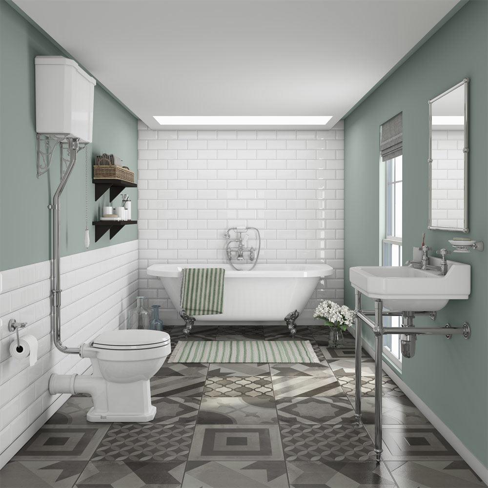 Trevligt vintage badrum