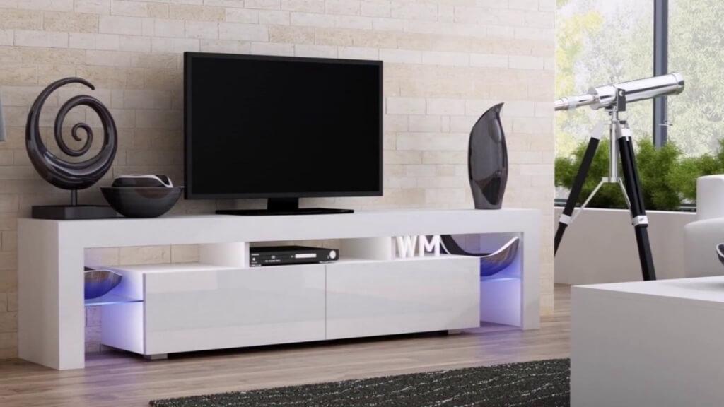 Bänk-liknande sovrum TV-stativ