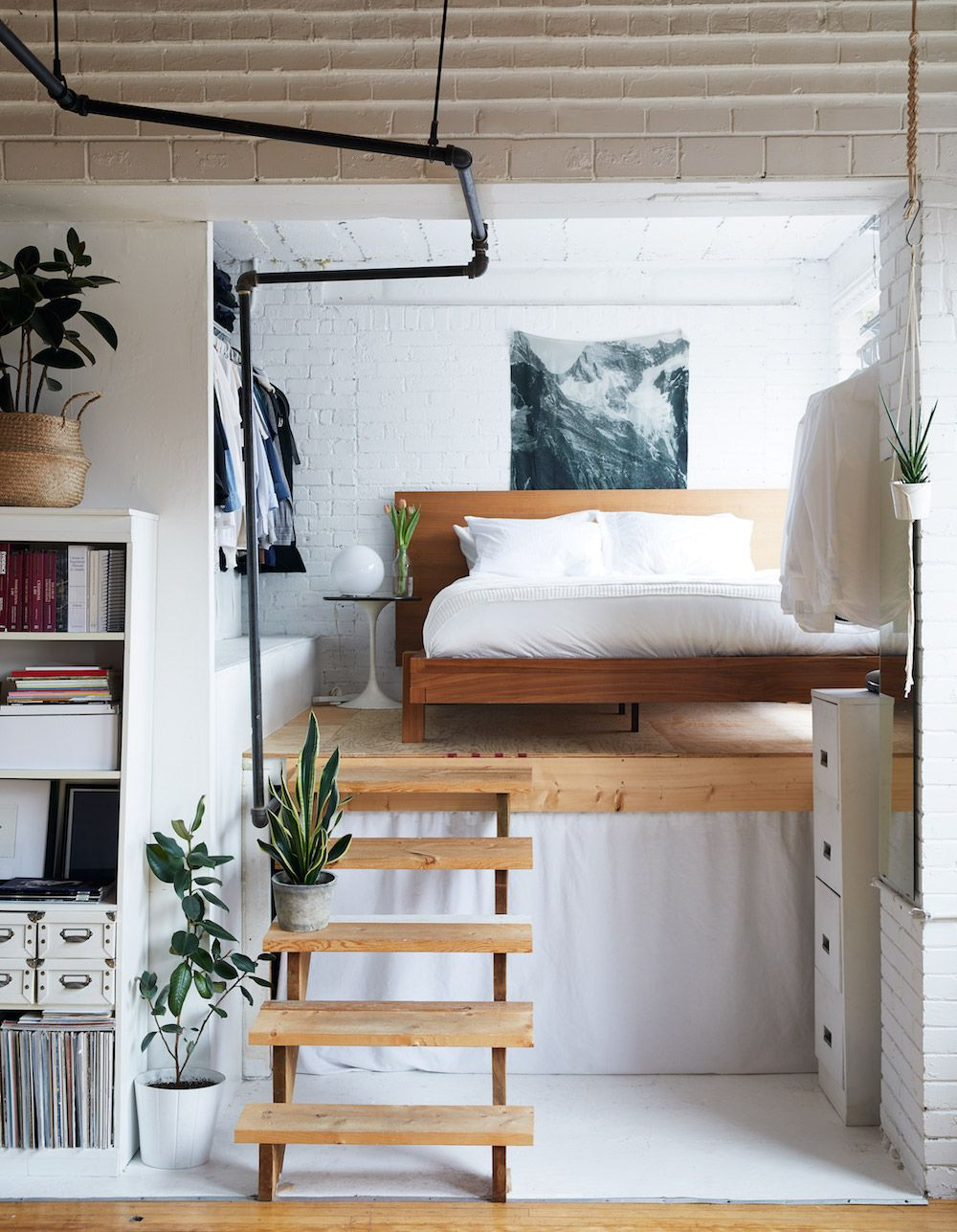 Fantastiskt loft sovrum