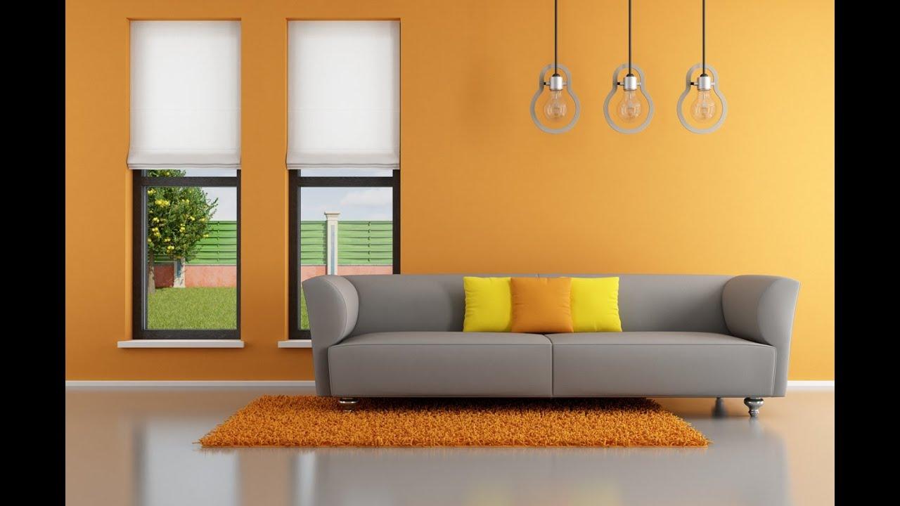 Ljus orange vardagsrum