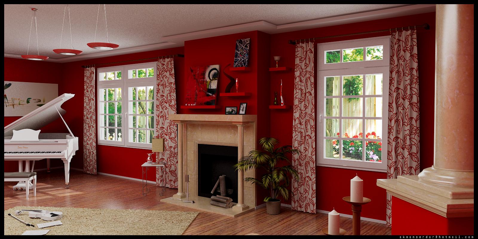 Dubbelvikat vardagsrumsfönster.  Källa: home-designing.com