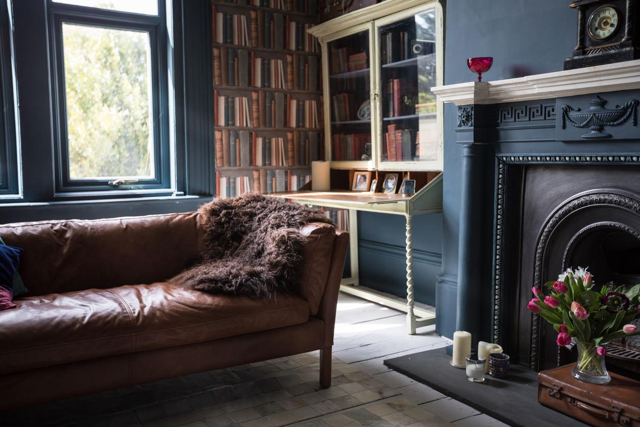 Elegant vintage vardagsrum.  Källa: homestratosphere.com