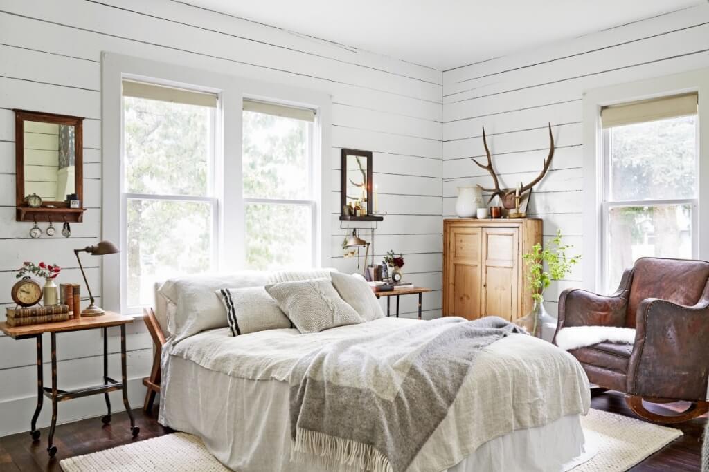 Antika vintage sovrum