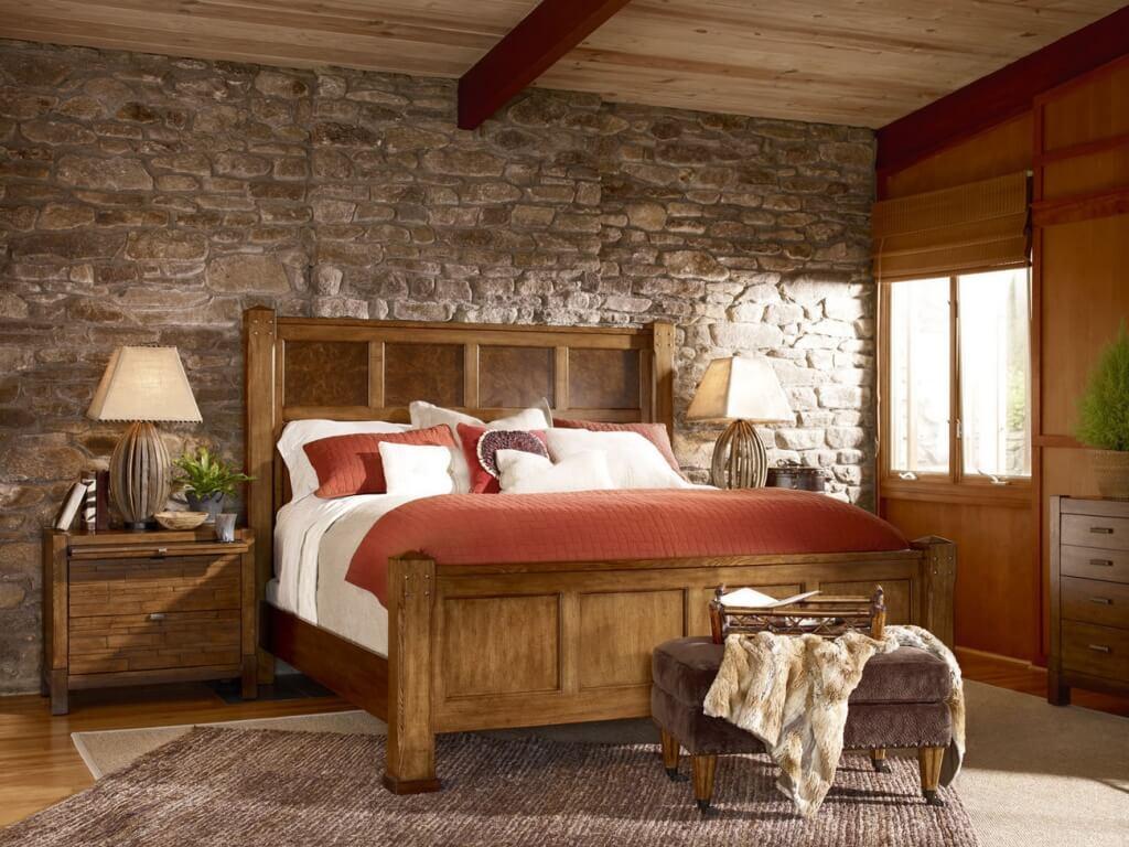 Trevligt rustikt sovrum