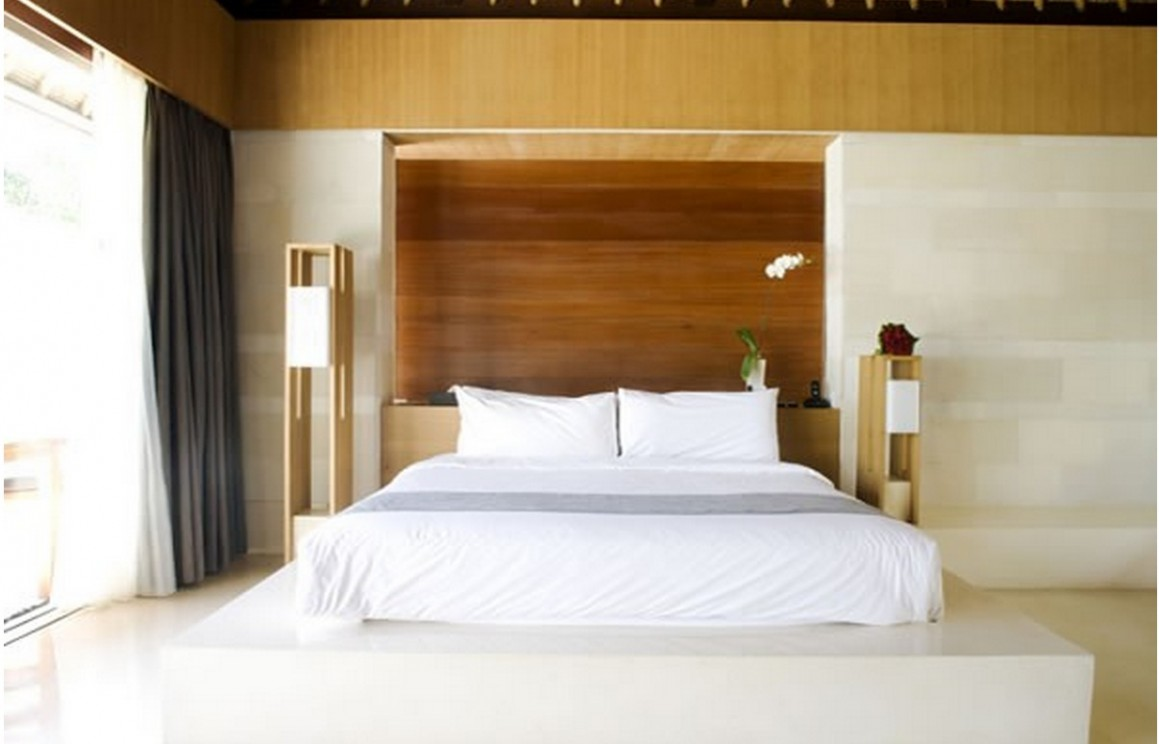 Rymligt zen sovrum