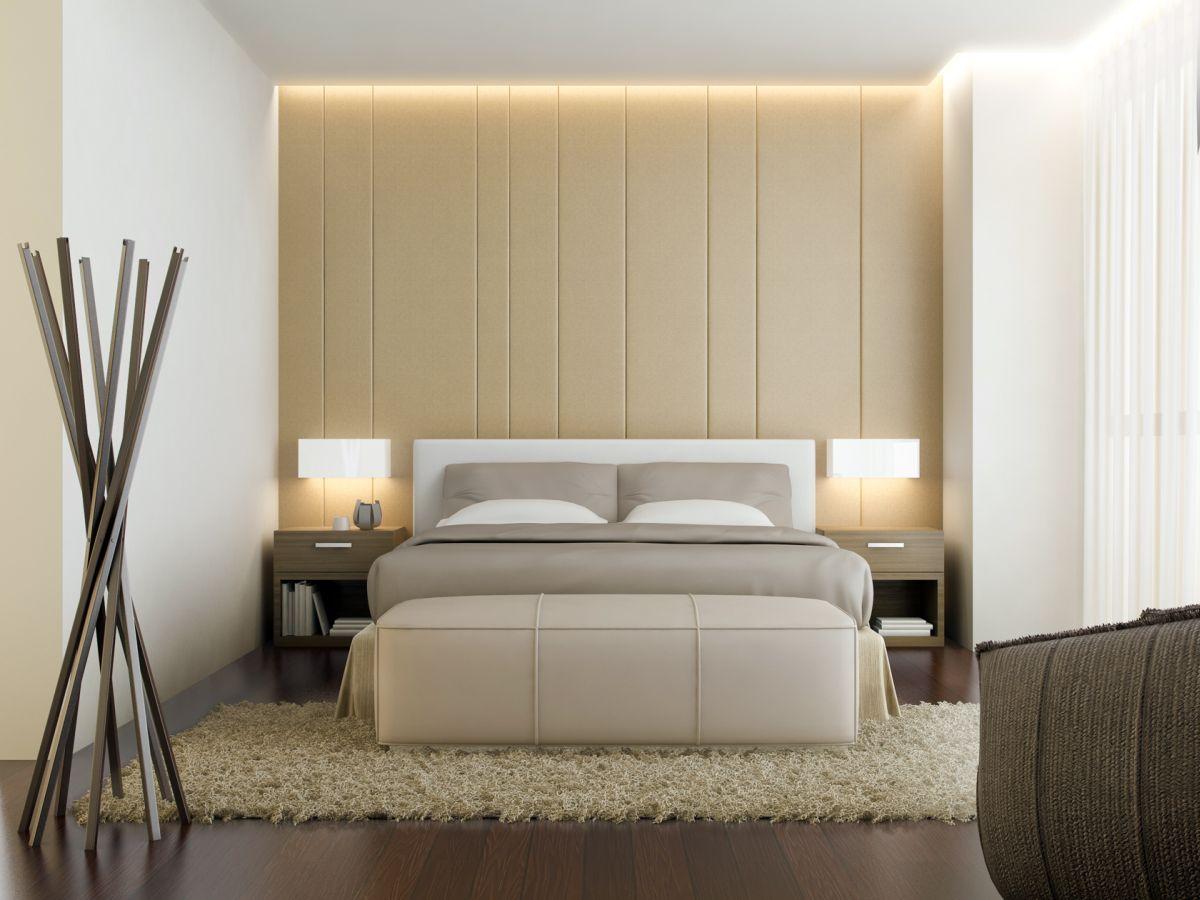Minimalistiskt elegant sovrum