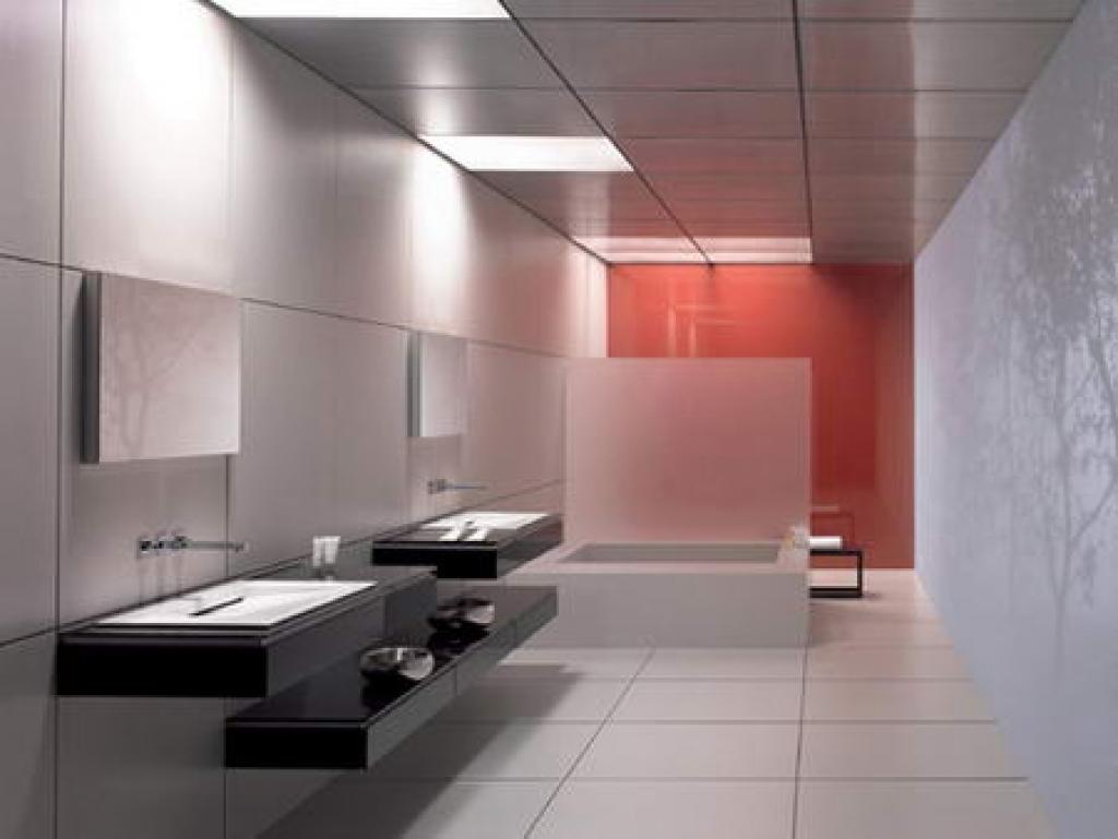 Futuristiskt kontorsbadrum