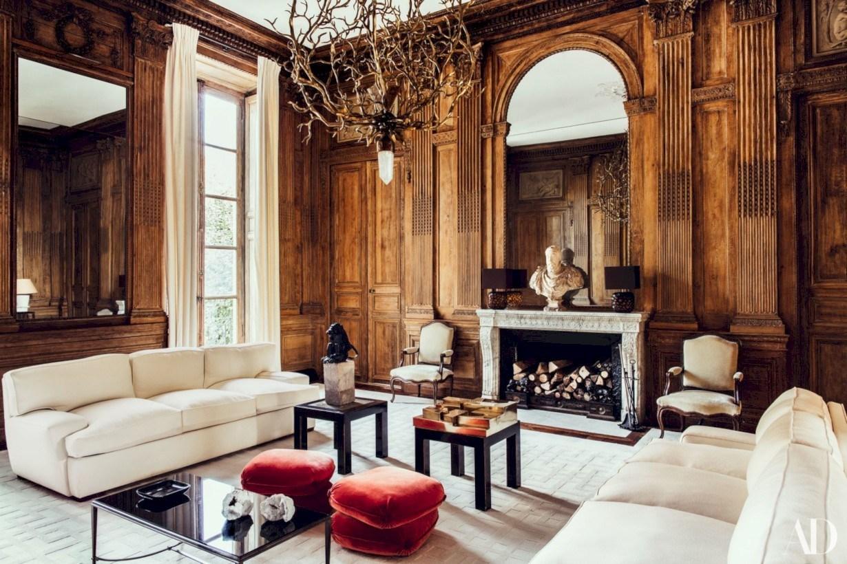 Romersk-inspirerad glam vardagsrum