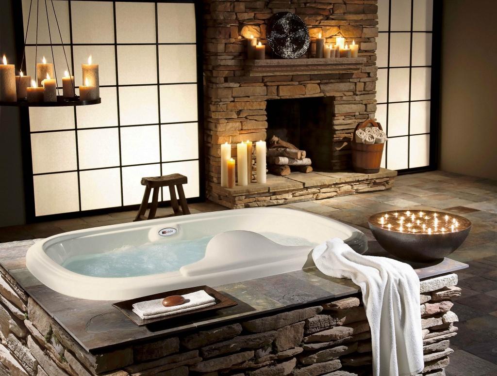 Lugnande spa-badrum