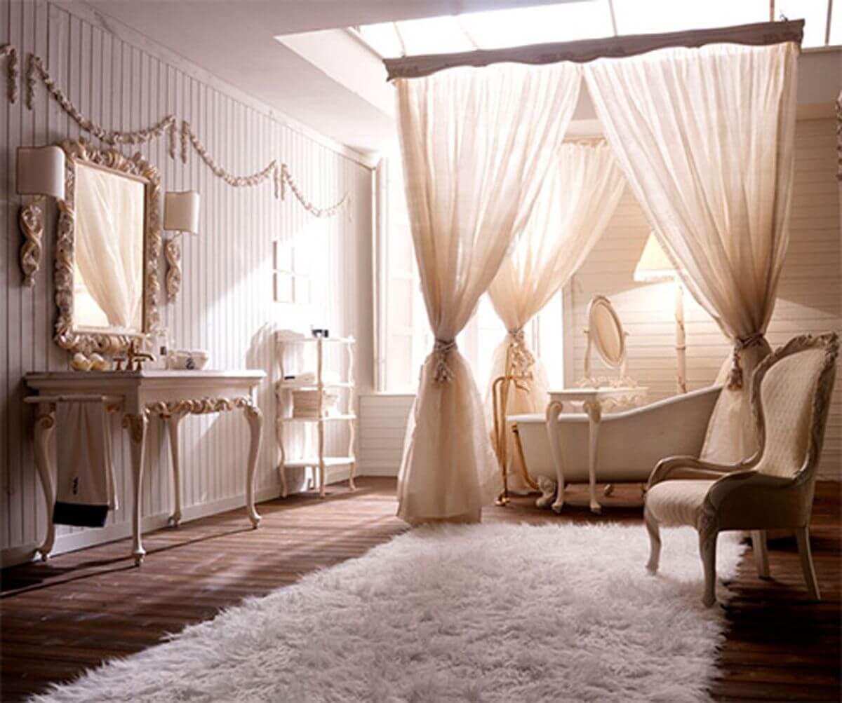 Elegant viktorianskt badrum