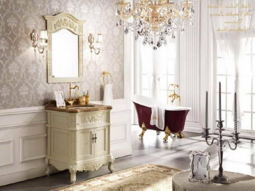 Glittrande viktorianskt badrum