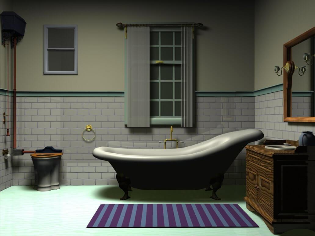 Intressant viktorianskt badrum