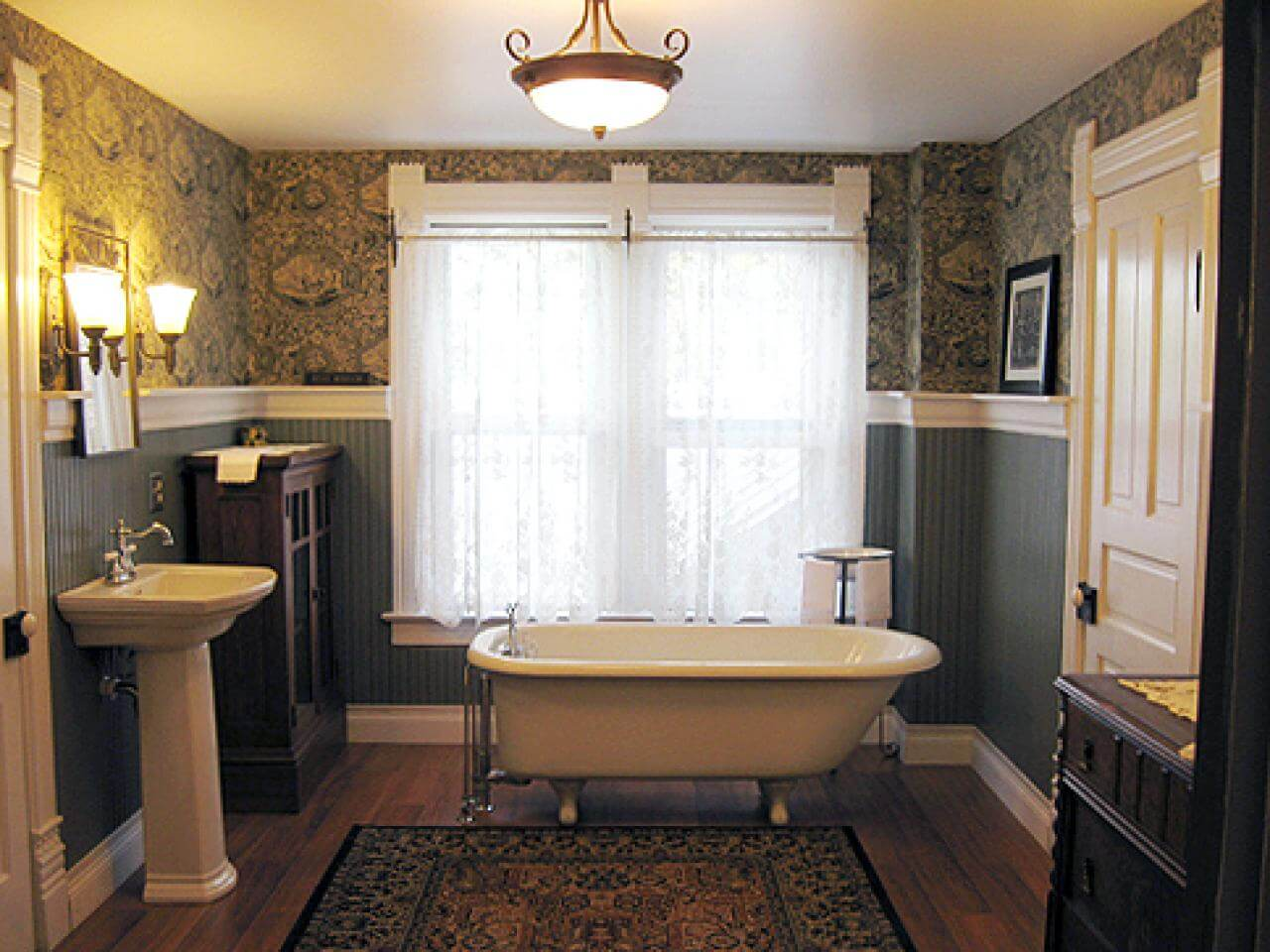 Varmt viktorianskt badrum