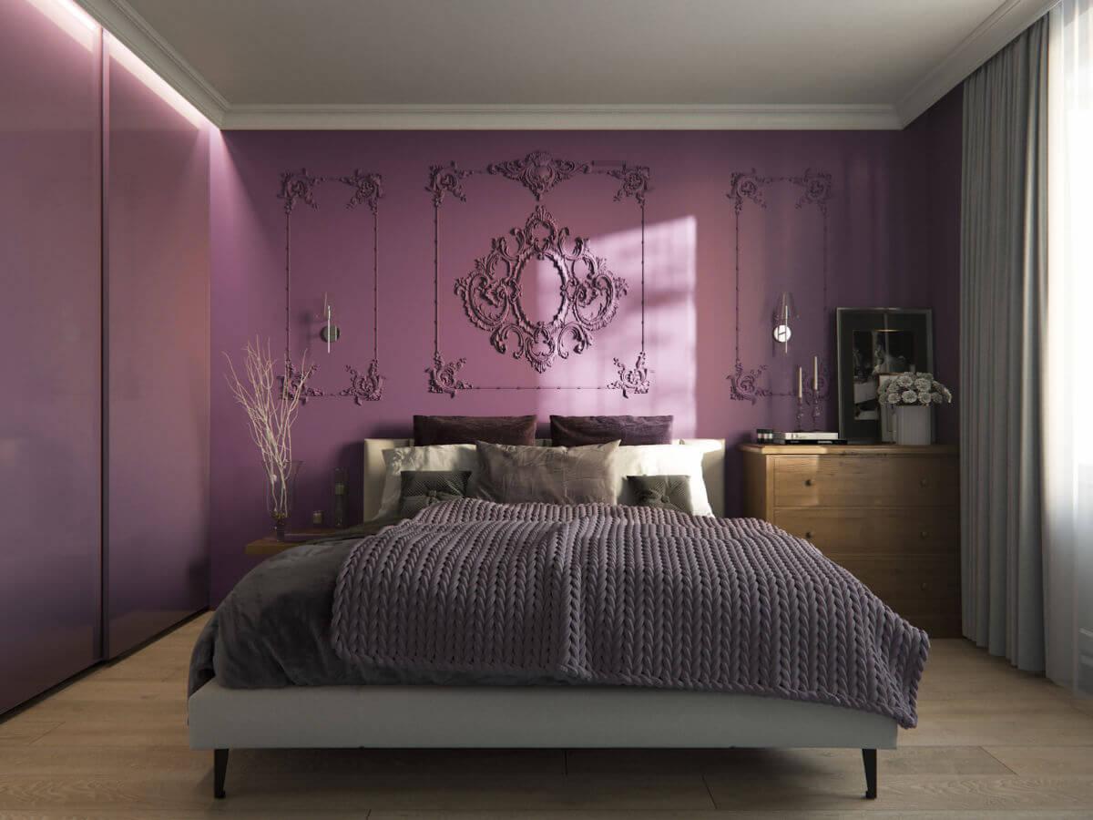 Lila elegant sovrum
