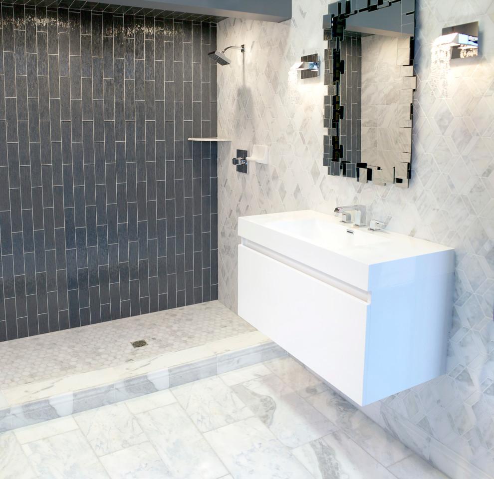 Unikt garage badrum