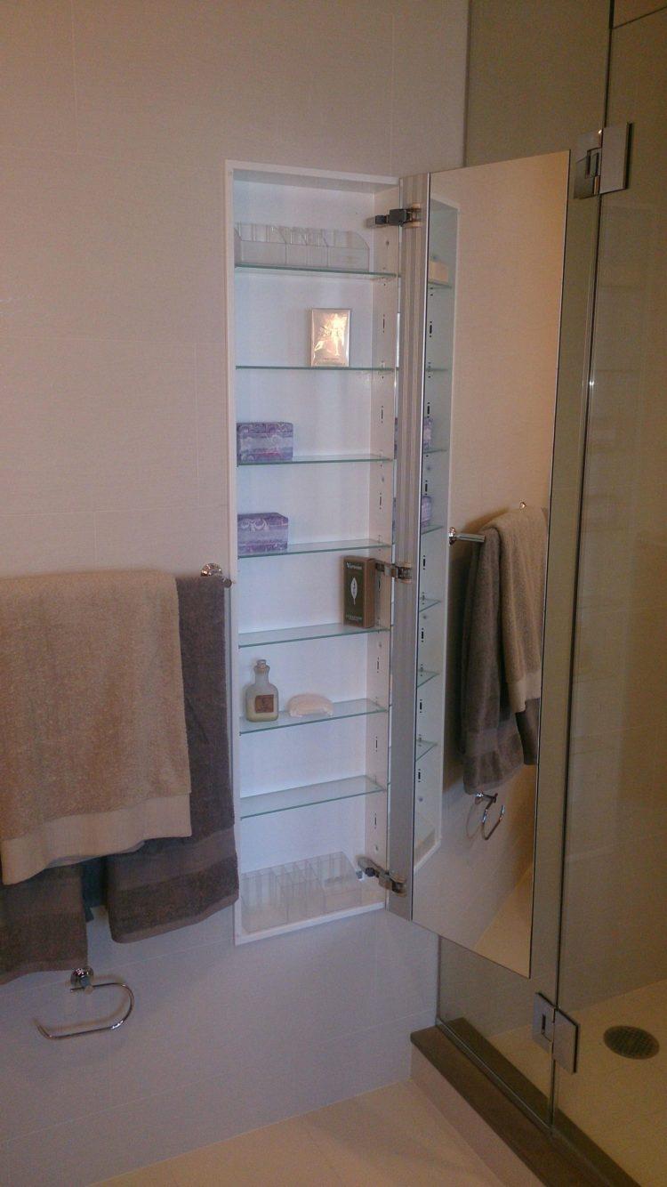 Effektivt medicinskåp för badrum