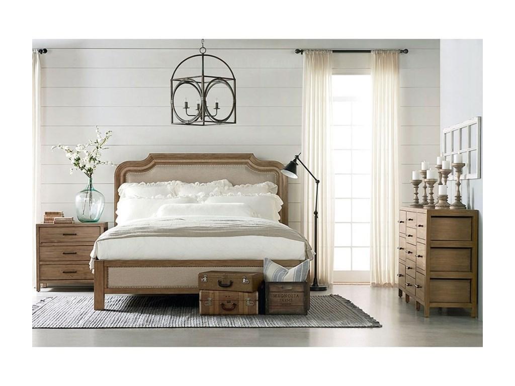 Vintage neutralt sovrum
