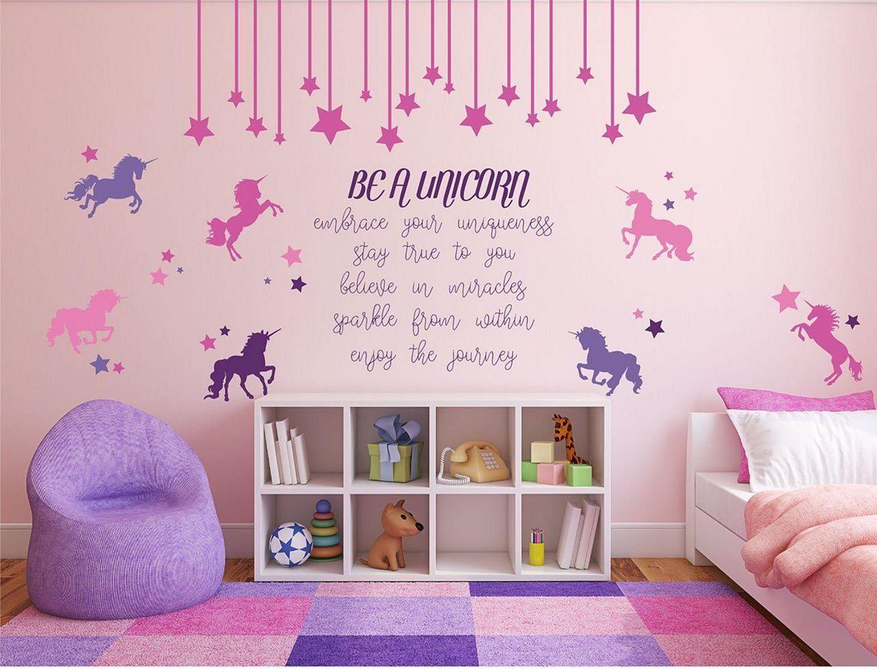 Inspirerande unicorn sovrum