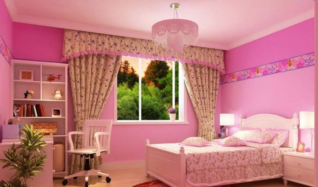 Trevligt rosa sovrum