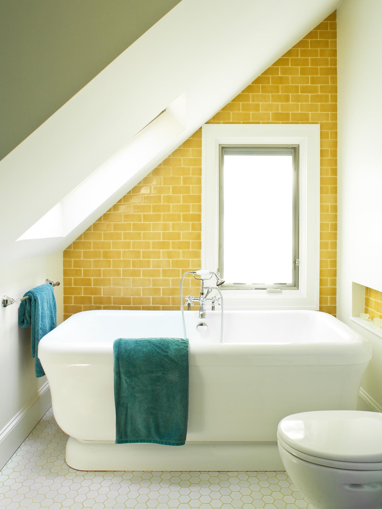 Unikt smalt badrum
