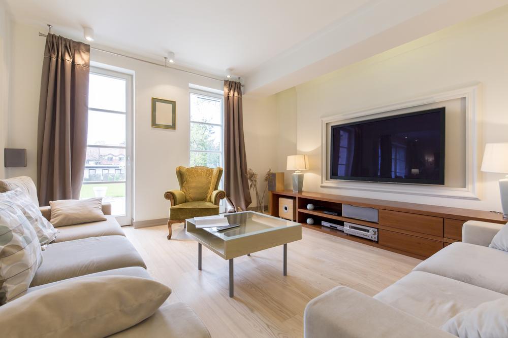 Deluxe modernt vardagsrum