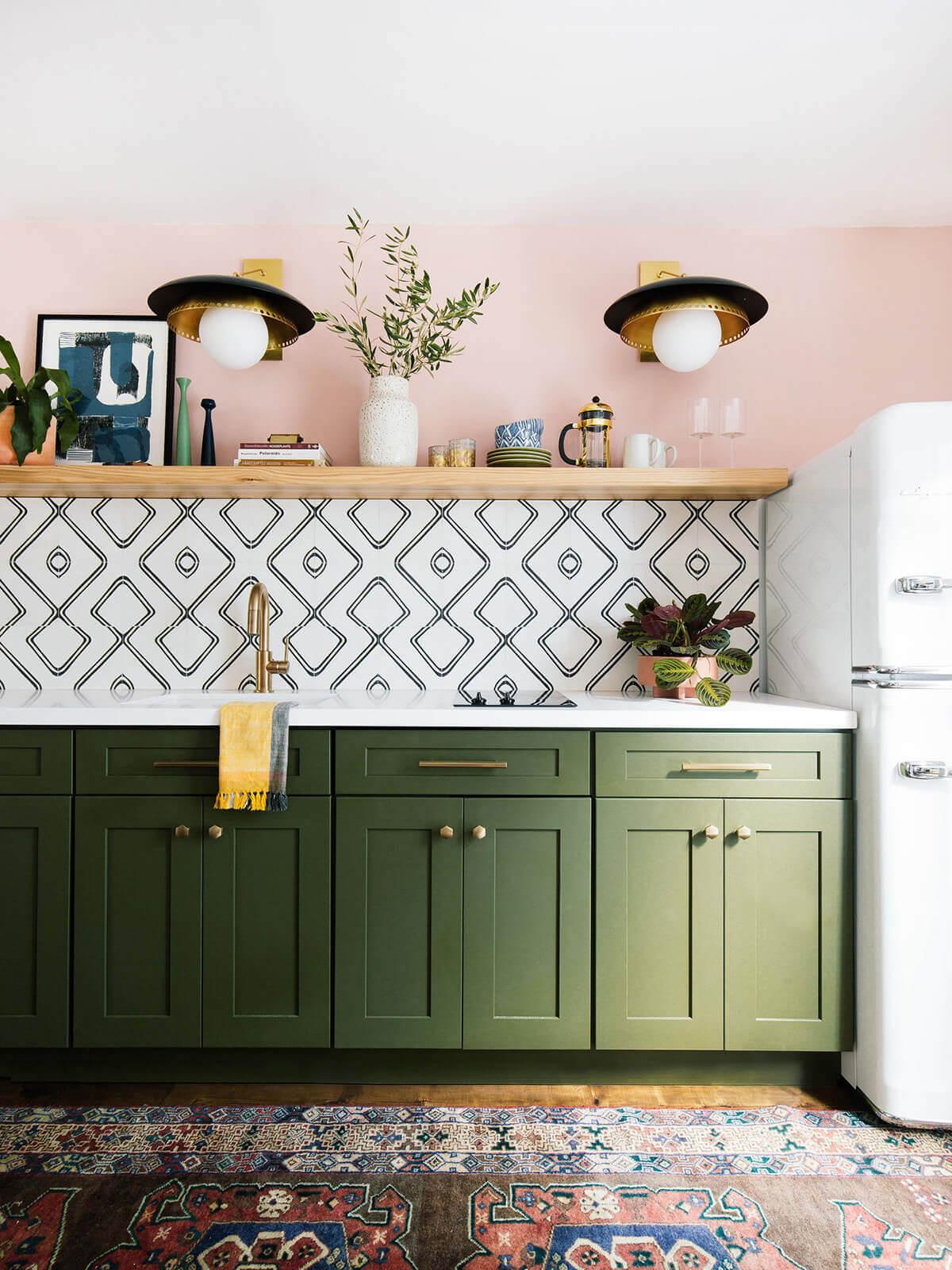 Konstnärligt modernt kök