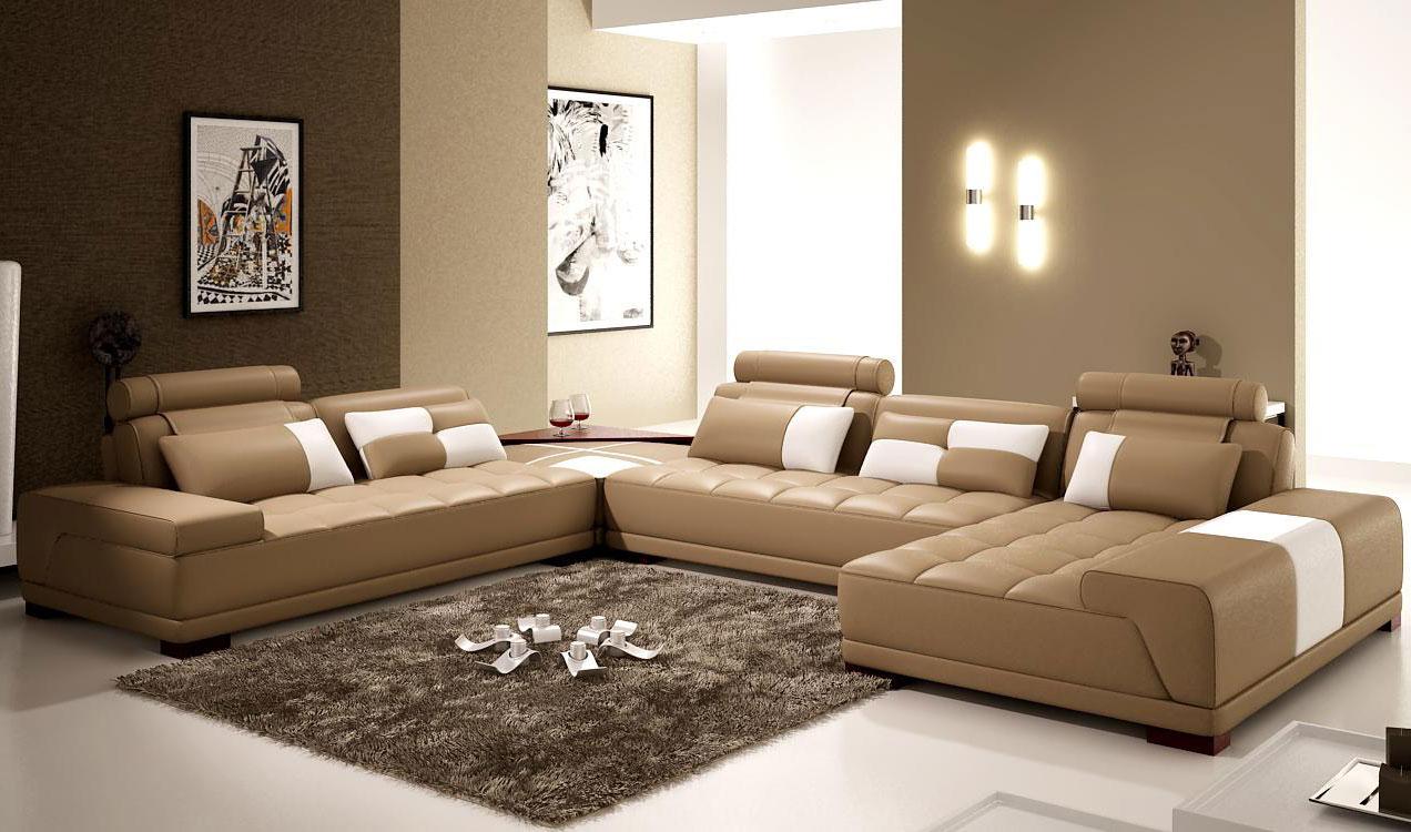 Uppfriskad total brun soffa vardagsrum