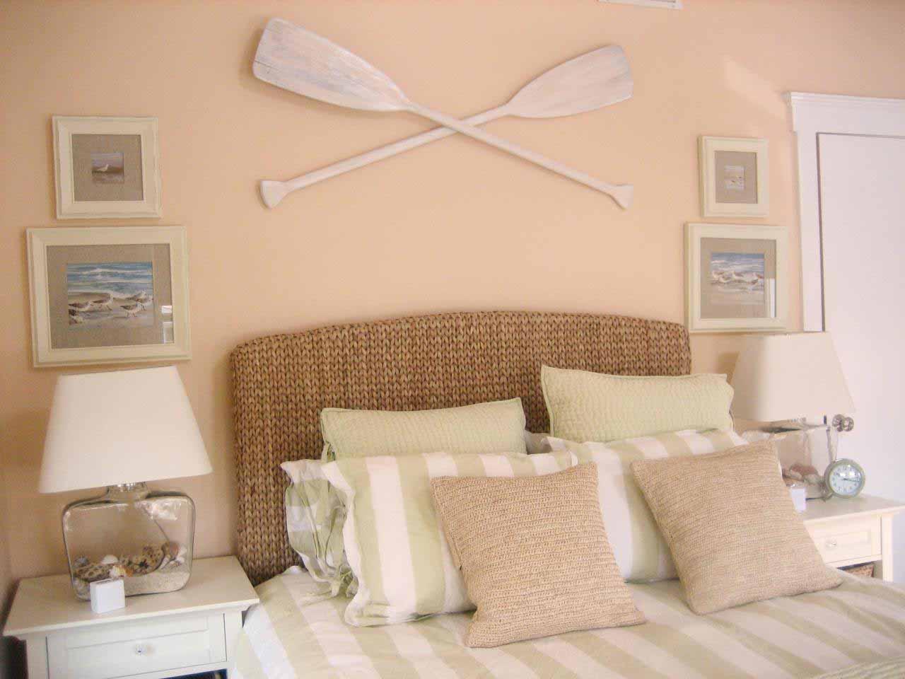 Roligt strand sovrum