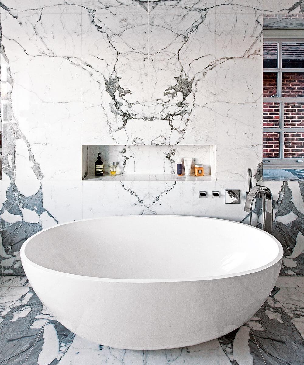 Unikt badrum i marmor