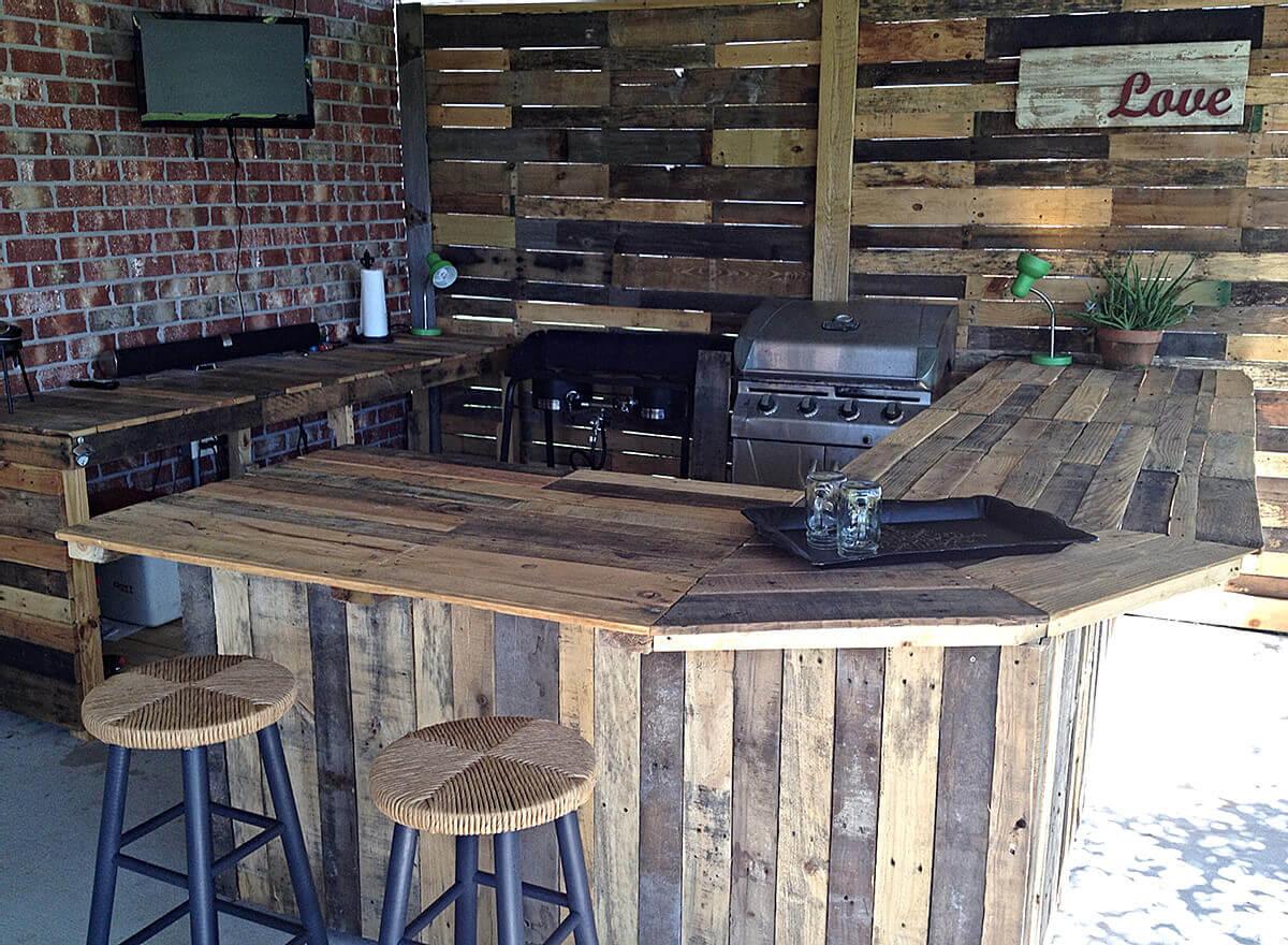 Wood kaffebar i utomhuskökö