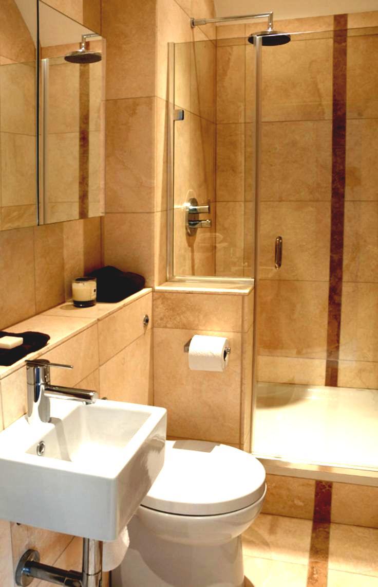 Avslappnat beige badrum