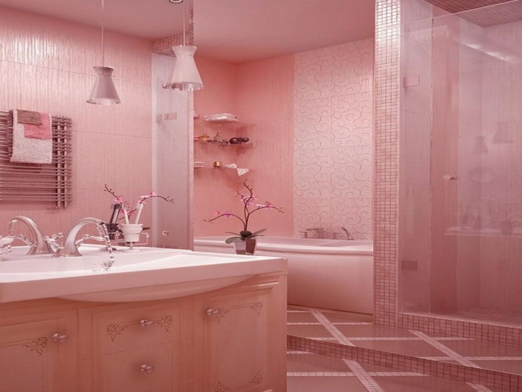 Delikat rosa badrum