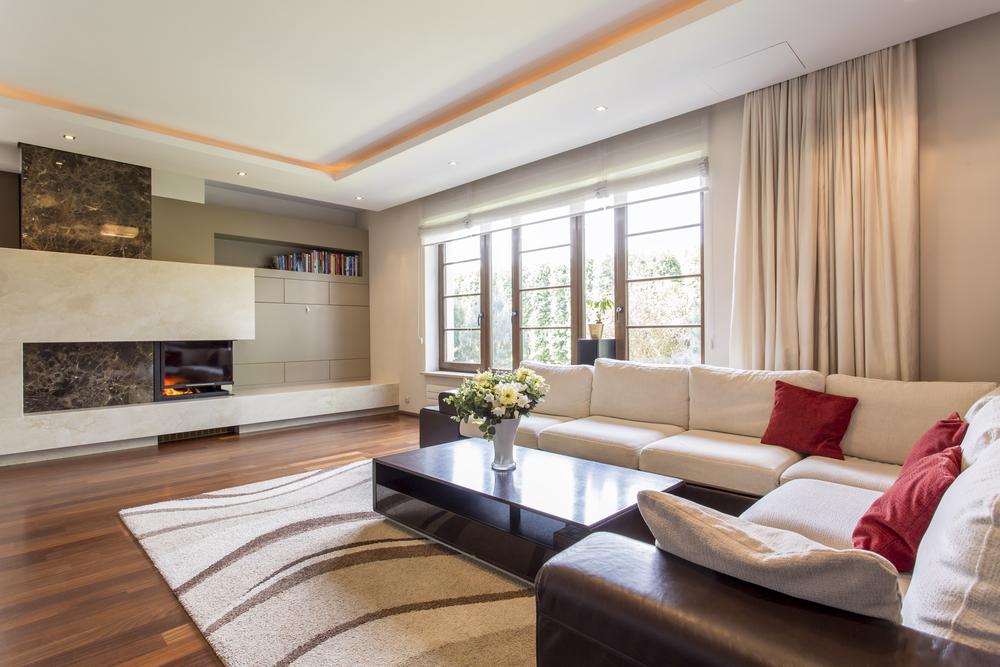 L-format stort vardagsrum