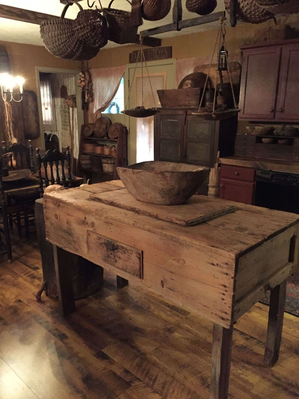 Gammalt primitivt kök