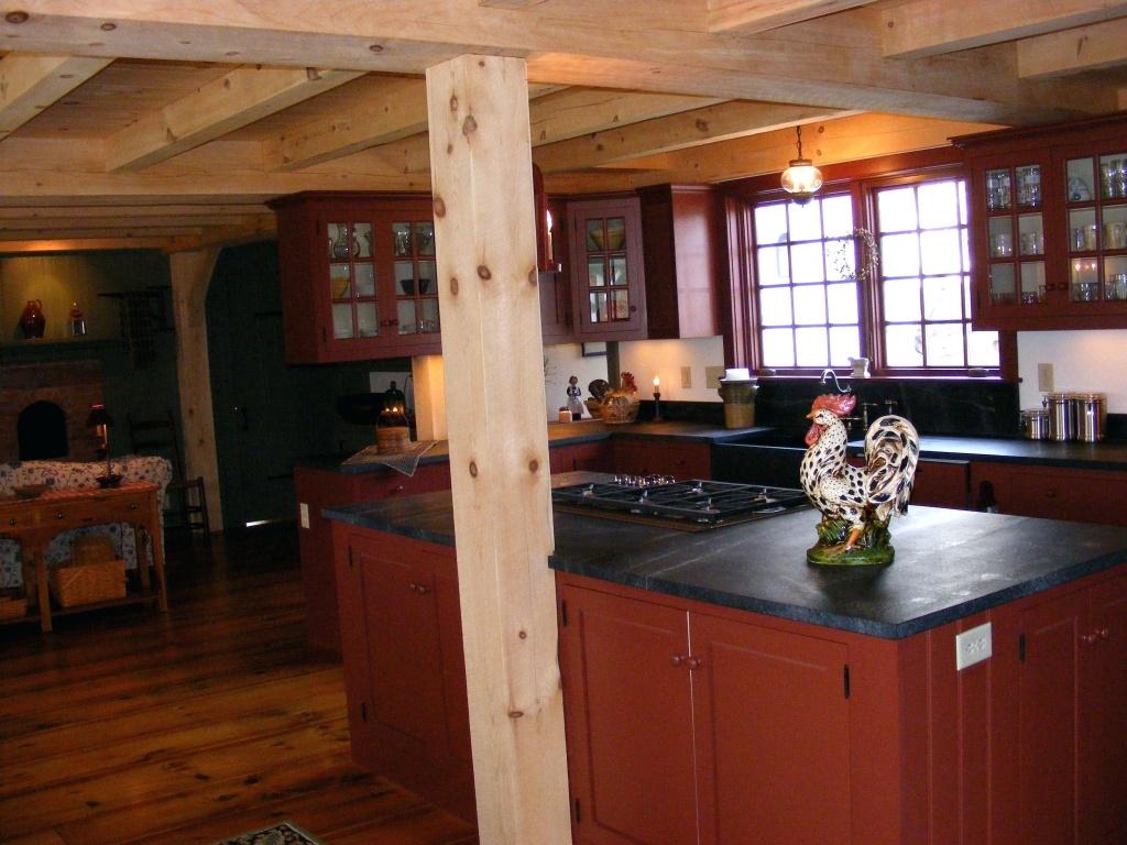 Ljus primitivt kök