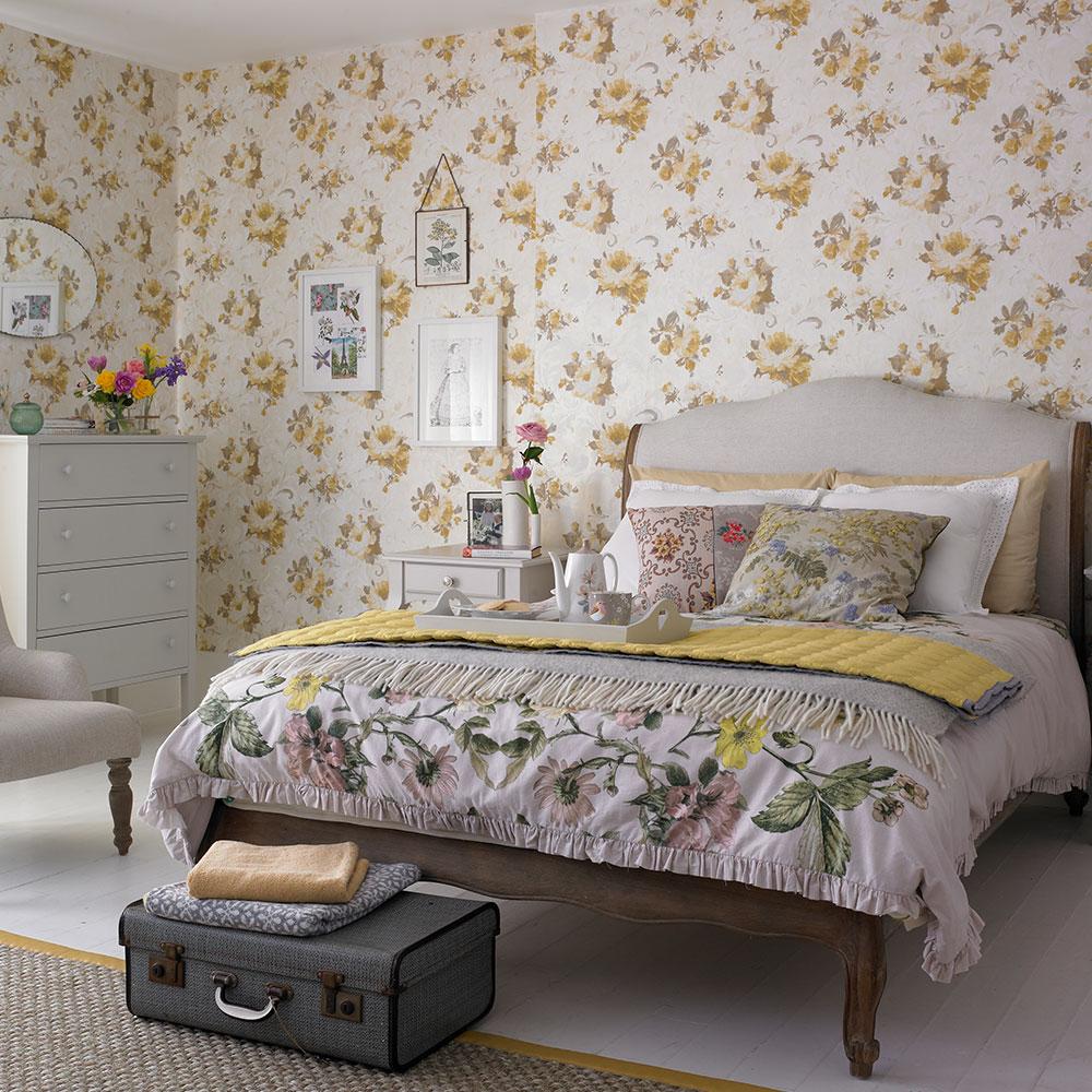 Floral sovrum accent vägg