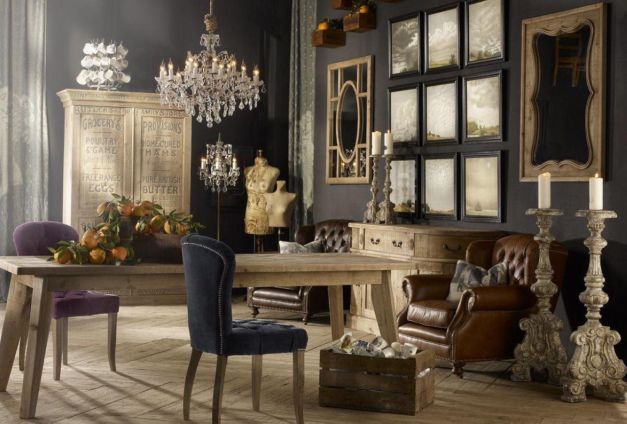 Glänsande vintage vardagsrum.  Källa: bestdesignideas.com