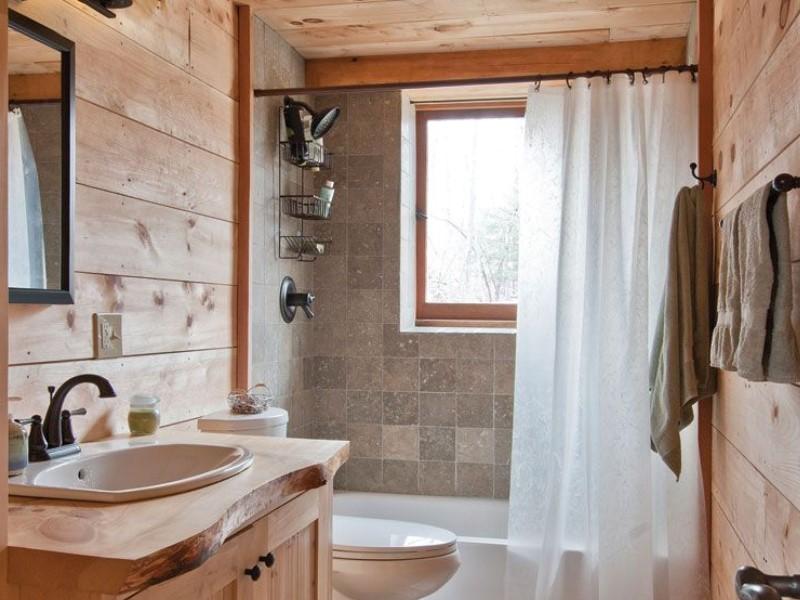 Rustikt badrum i Woodhaven