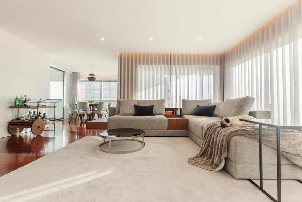 Öppet vardagsrumsstil för modern lägenhet