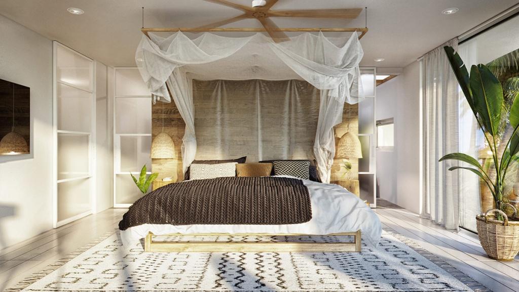 Öppet tropiskt sovrum